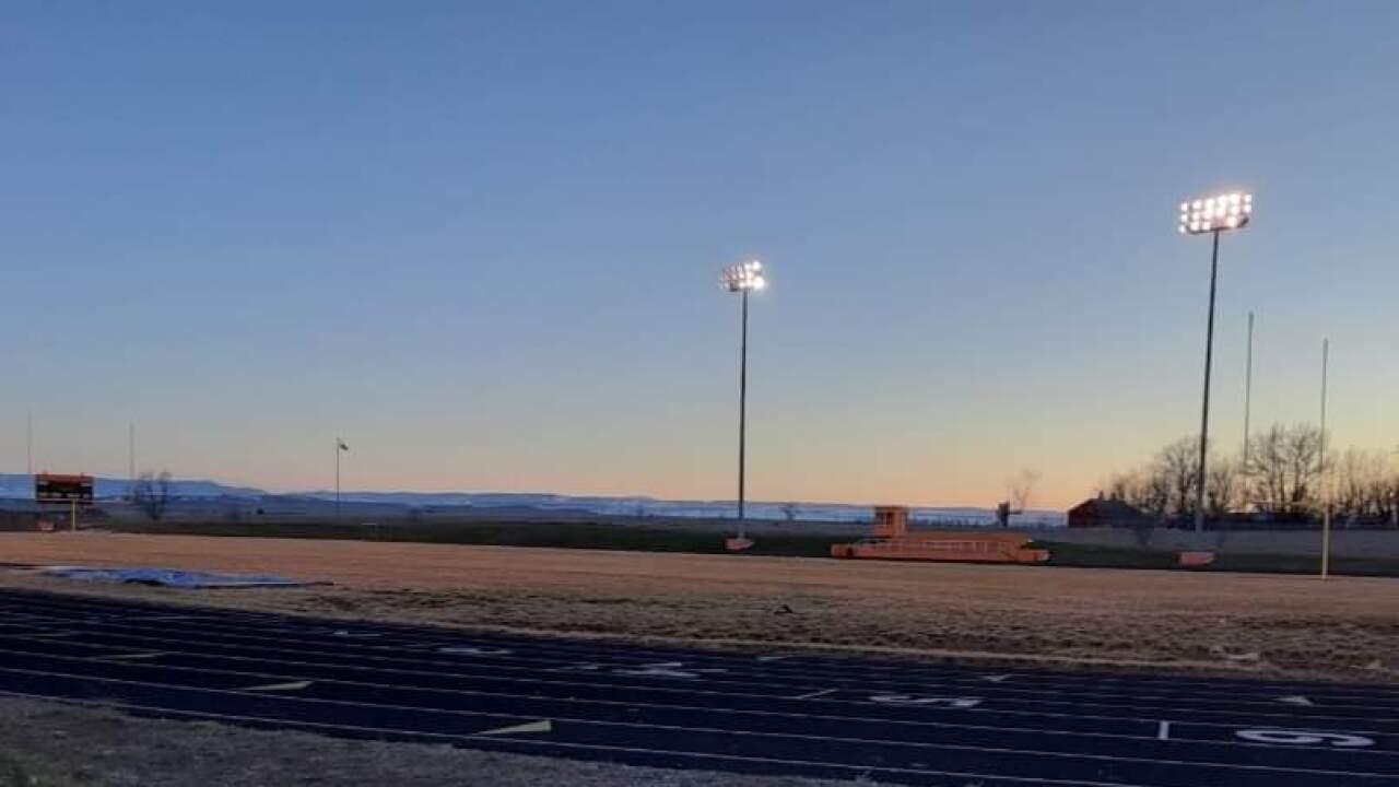 Lodge Grass High School football field