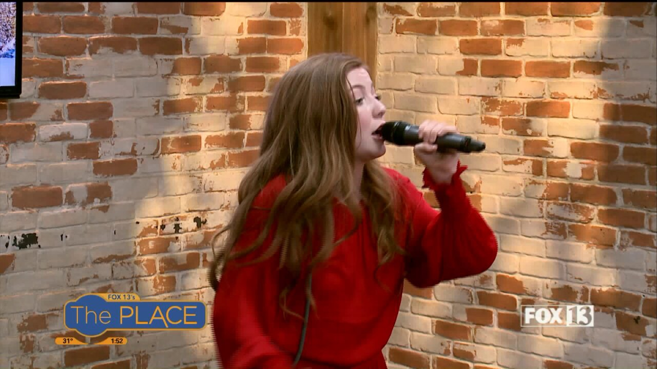 Lexi Walker performs ahead of a benefitconcert