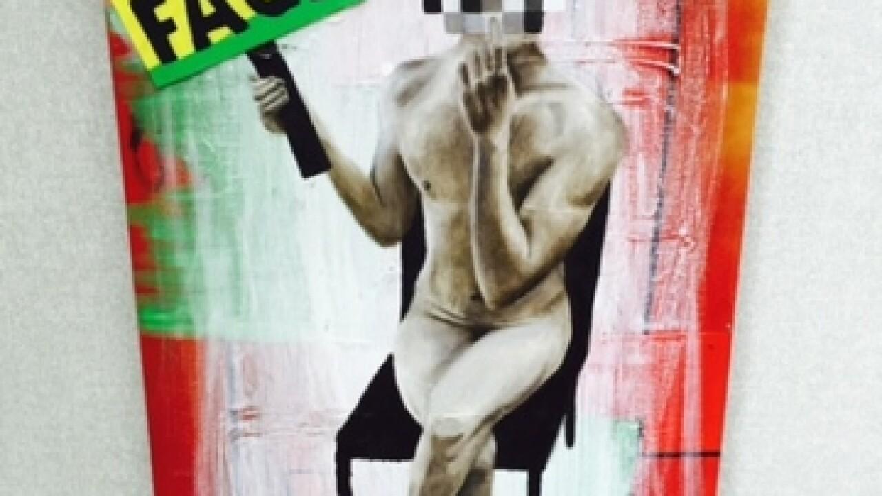KKK artwork displayed in Denver's Webb building