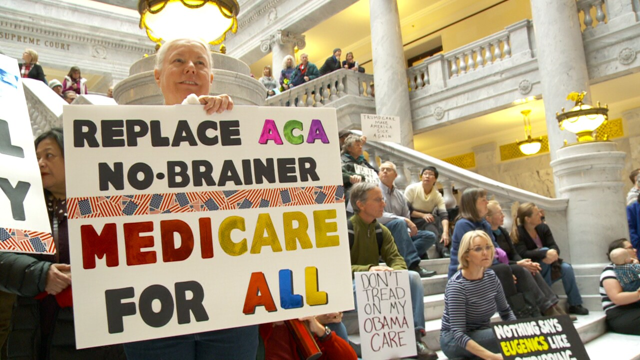 Hundreds gather at Utah State Capitol to rally against repeal of Affordable Care Act