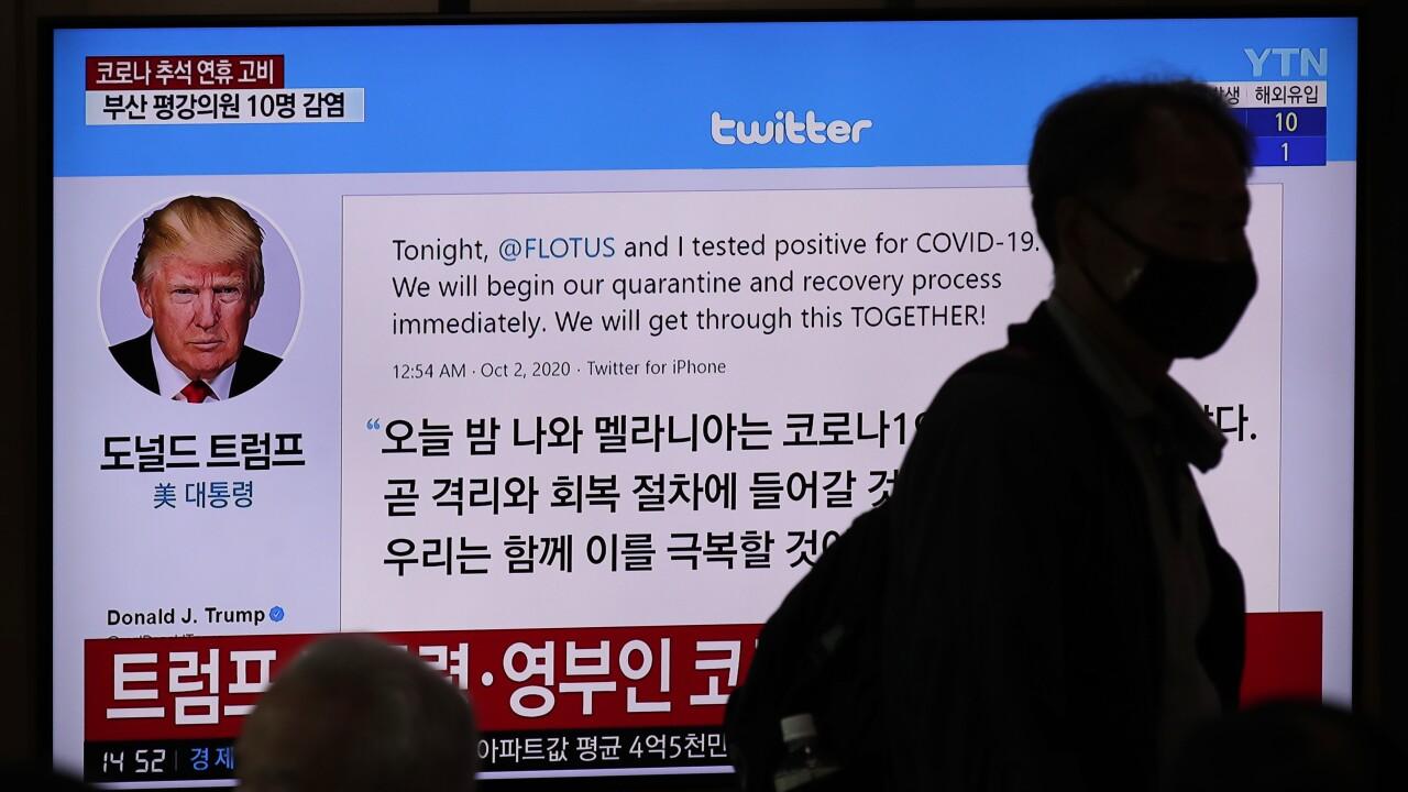 Virus Outbreak Trump Global Reaction