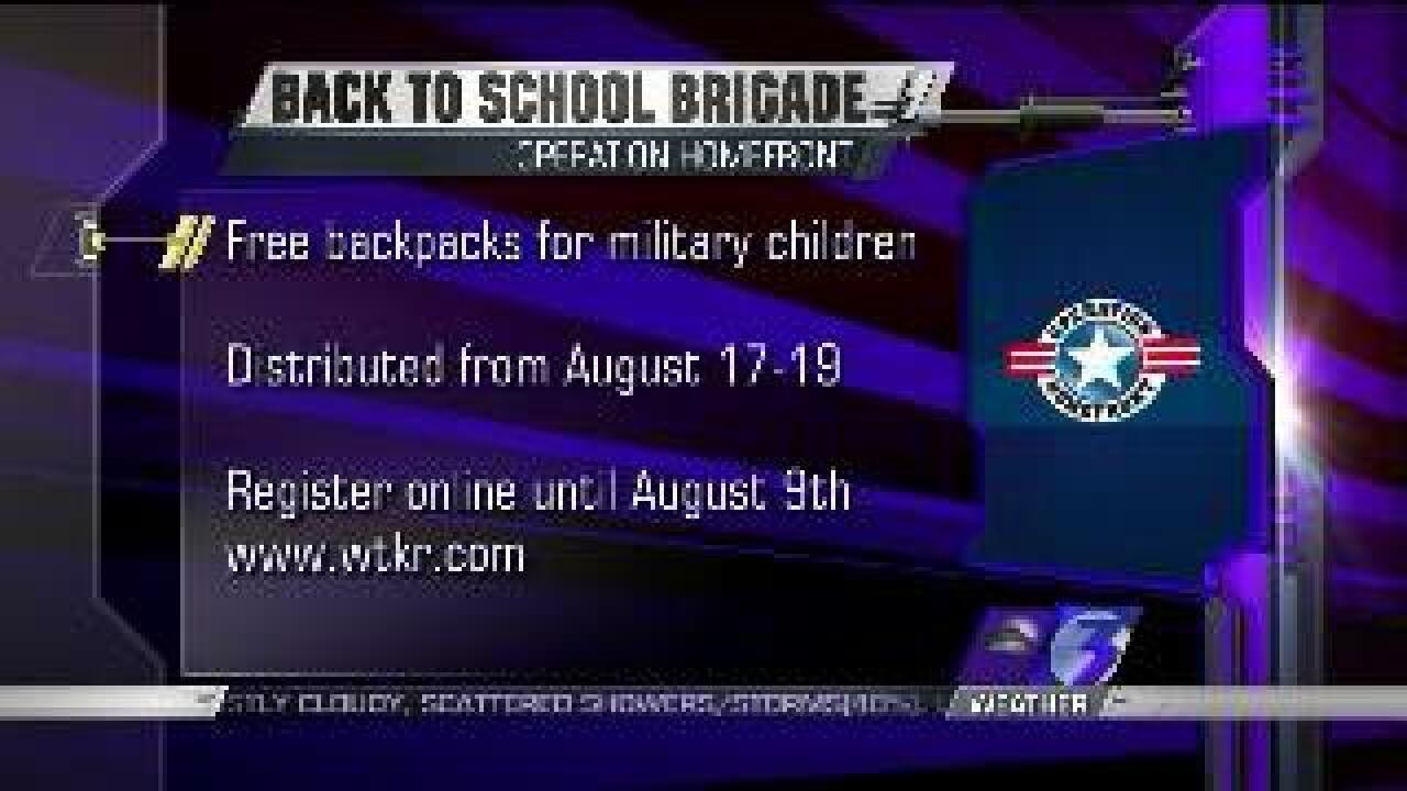 """Back-to-School Brigade"" provides backpacks for kids of military families"