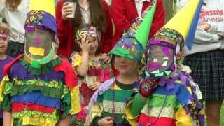 Berchmans Academy hosts Courir de Mardi Gras