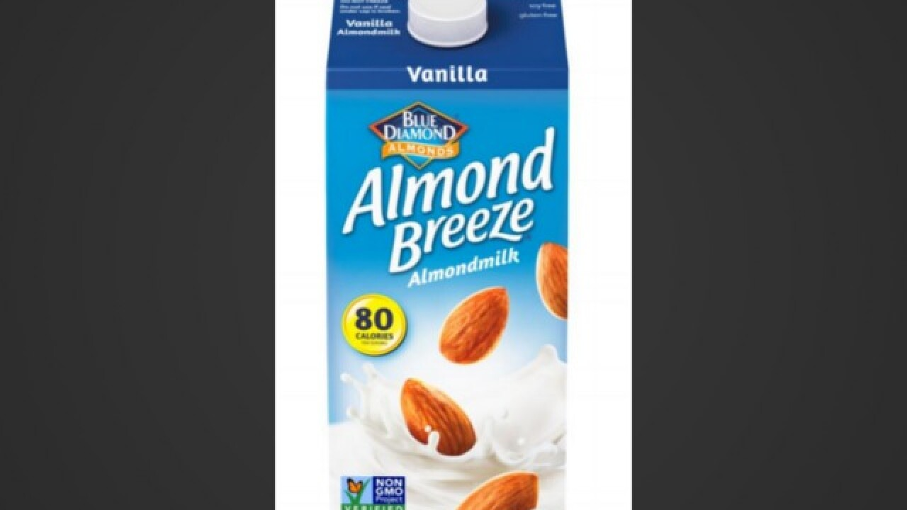 Cartons of almond milk recalled, could contain cow's milk
