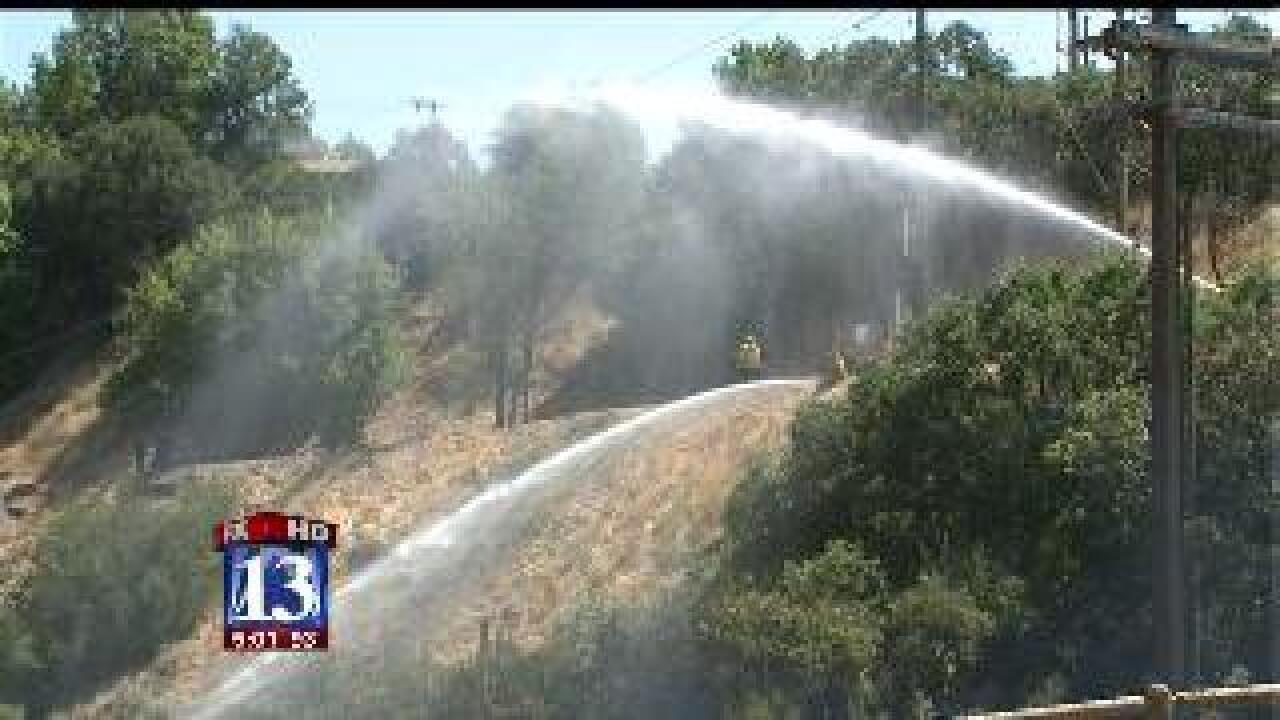 Crews contain fire near Tanner Park