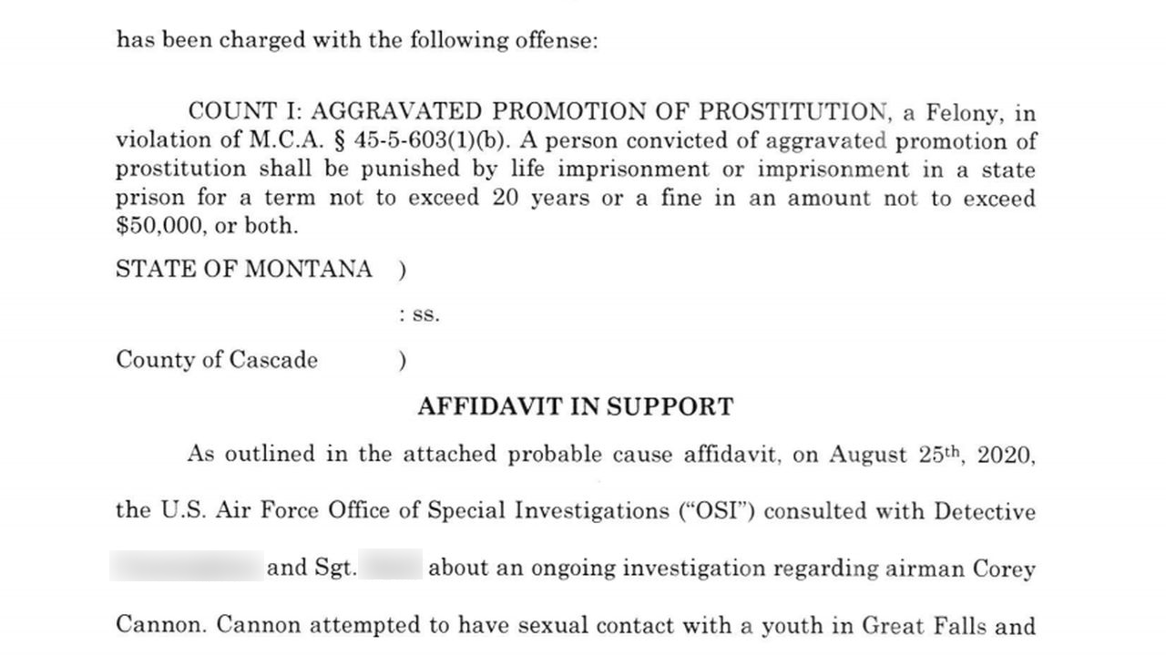 Man charged in Great Falls with promotion of prostitution involving a minor