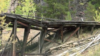 The historic Evening Star Mine near Neihart is being torn down