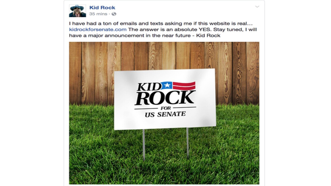 2a0911243 Kid Rock teases Senate run in 2018 in social media posts