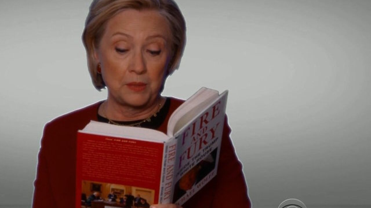 Hillary Clinton trolls Trump in a surprise appearance at the 2018 Grammys