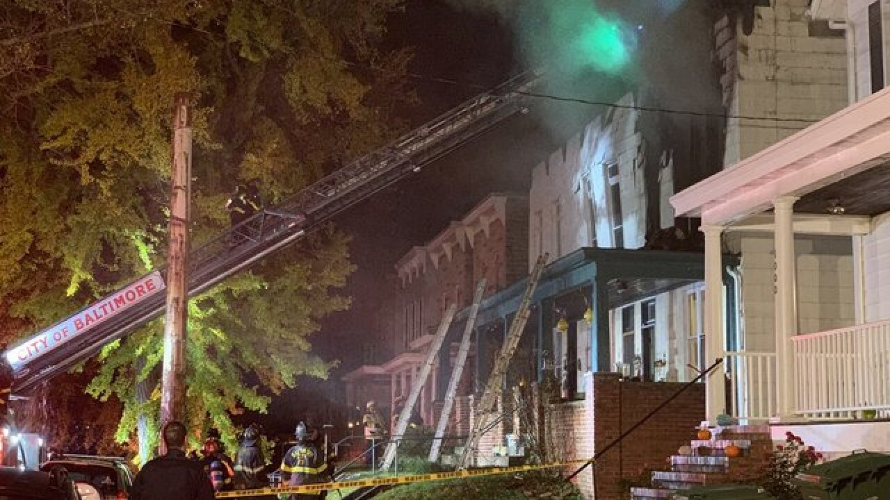 Rowhome destroyed after possible explosion