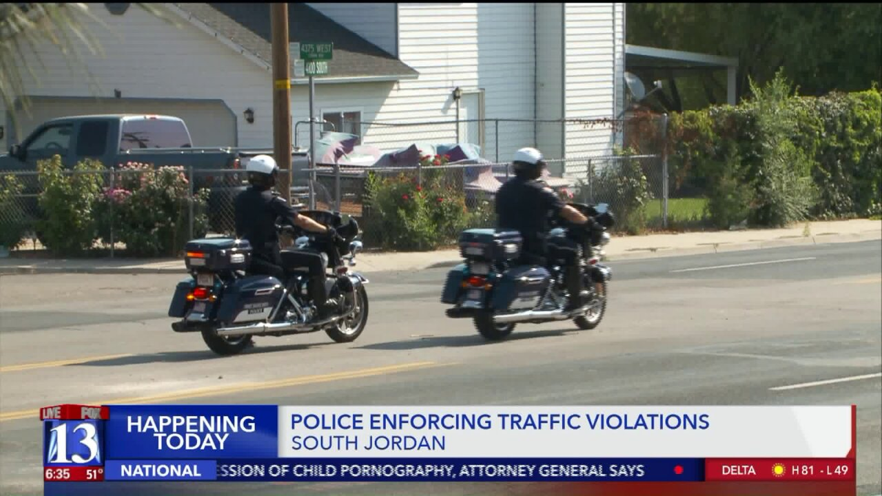 Police to increase traffic enforcement near South Jordan schools Wednesday