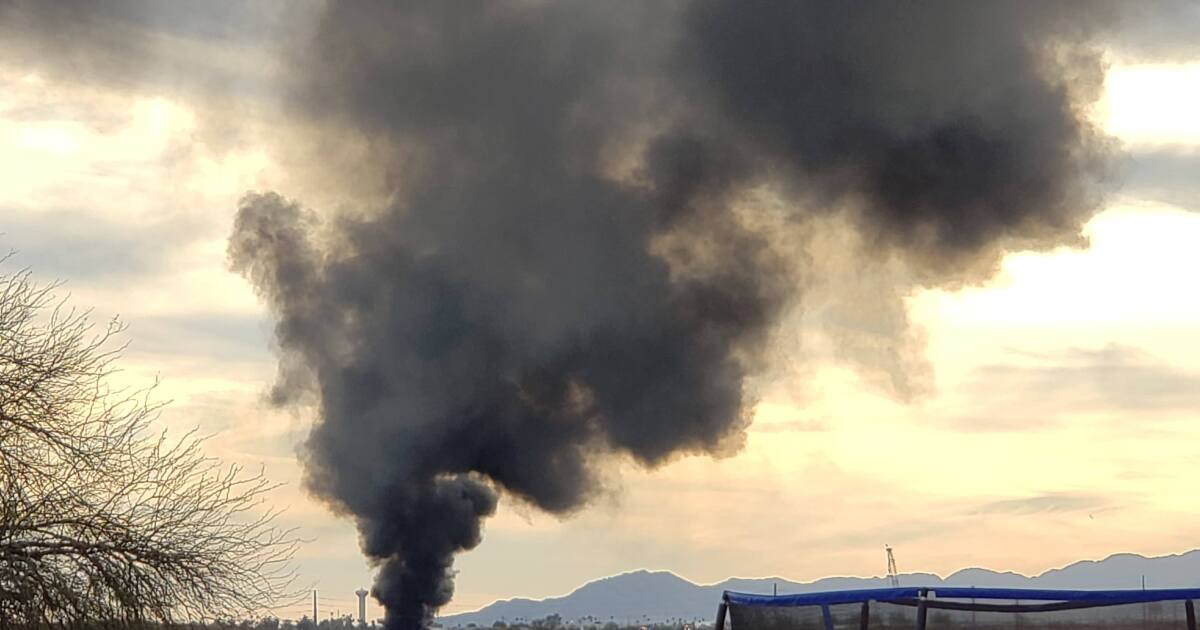 FD: Smoke seen in west Phoenix from tire fire