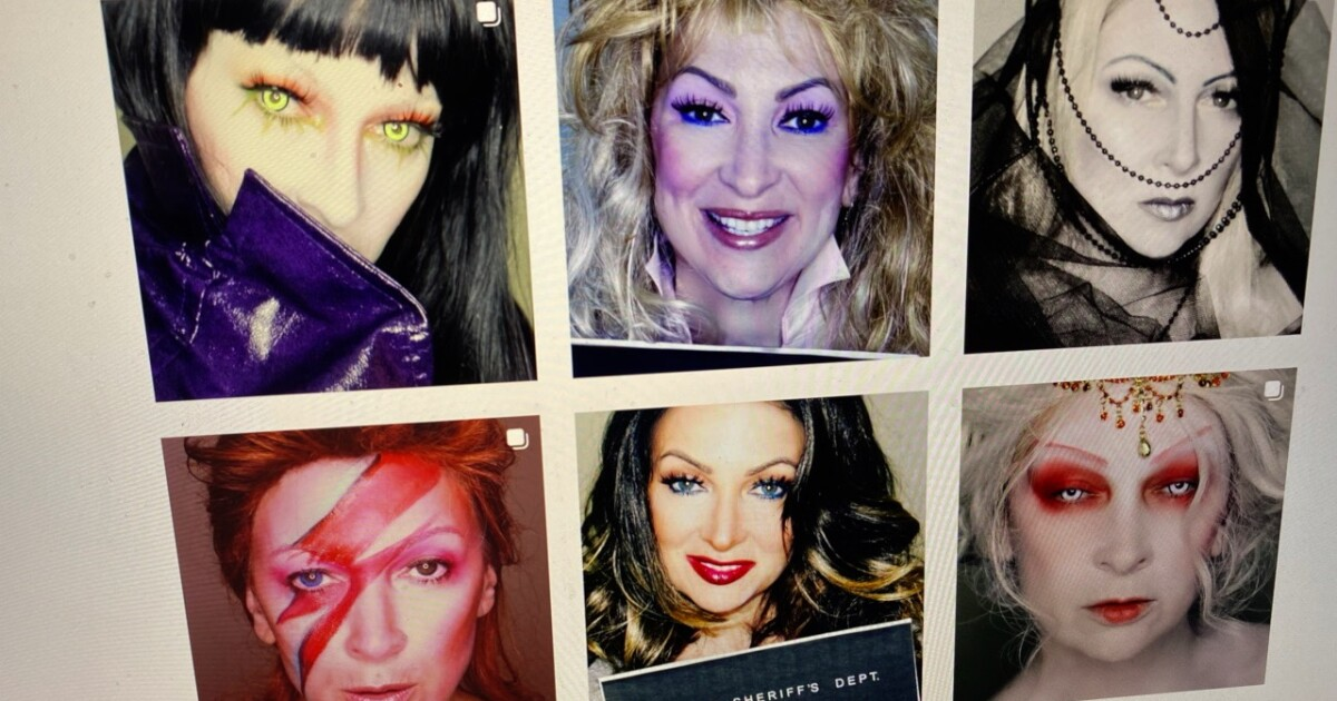 """She found a creative outlet at her make-up table """"making faces"""""""