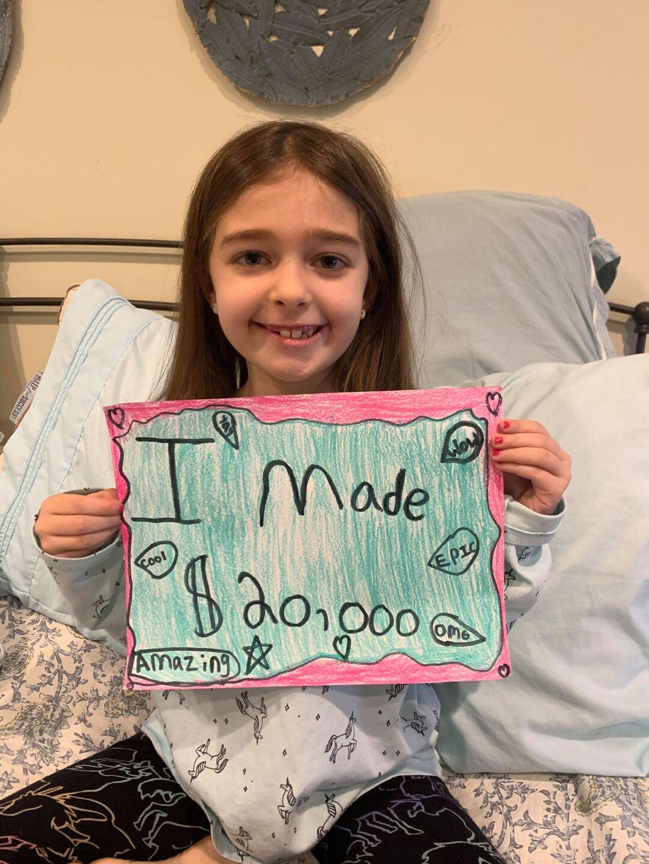 Hayley surpassing her $200 goal!
