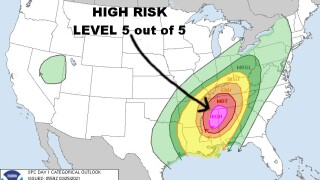 High Risk Of Severe Today