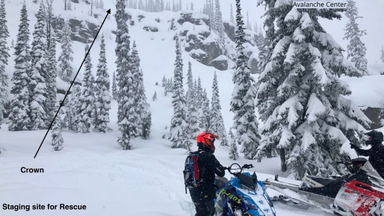avalanche report three snowmobilers