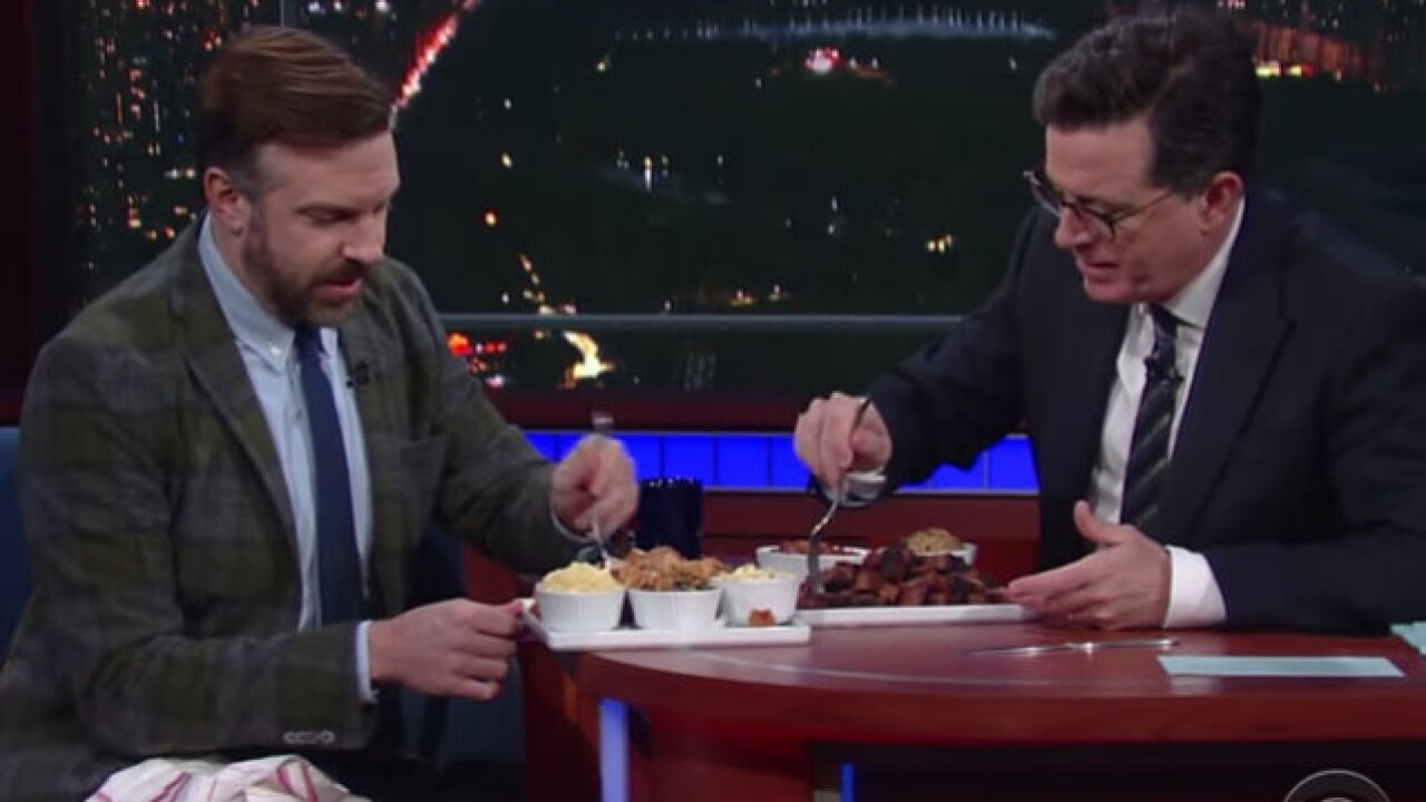 BBQ Battle: Jason Sudeikis brings Joe's Kansas City to 'The Late Show with Stephen Colbert'