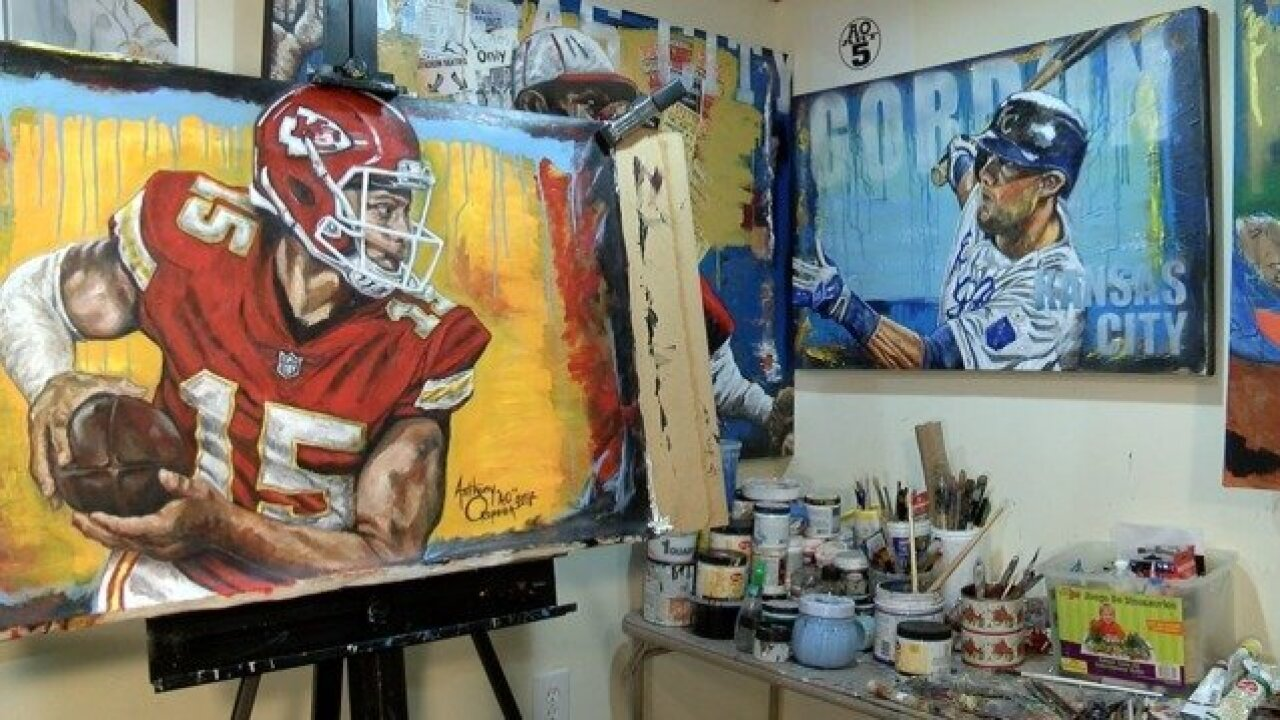Local artist receives national attention for Patrick Mahomes painting