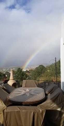 PHOTOS: Rainbows emerge after Rosa's rainfall covers Arizona