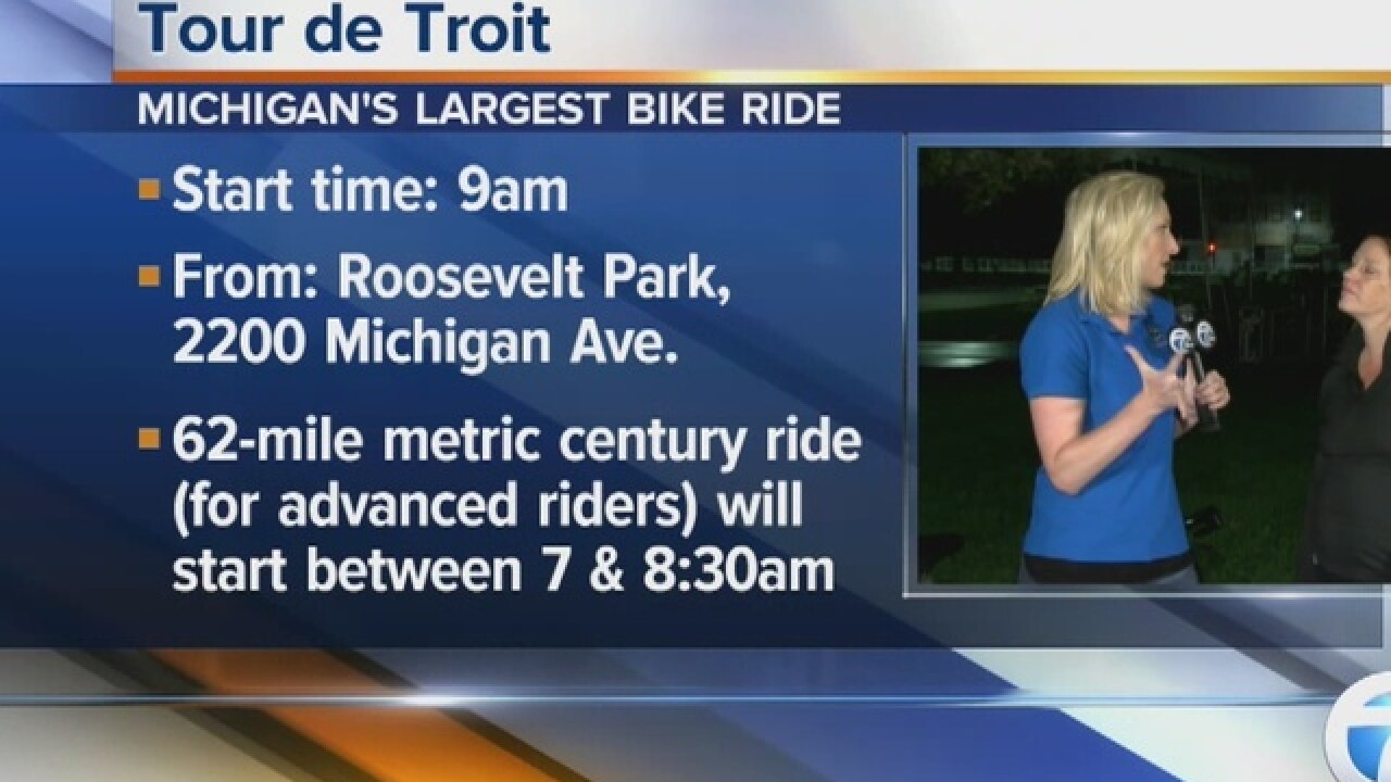 Tour de Troit bike ride planned for Sept. 17