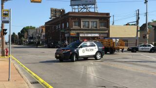 Police on scene at 35th and Burleigh