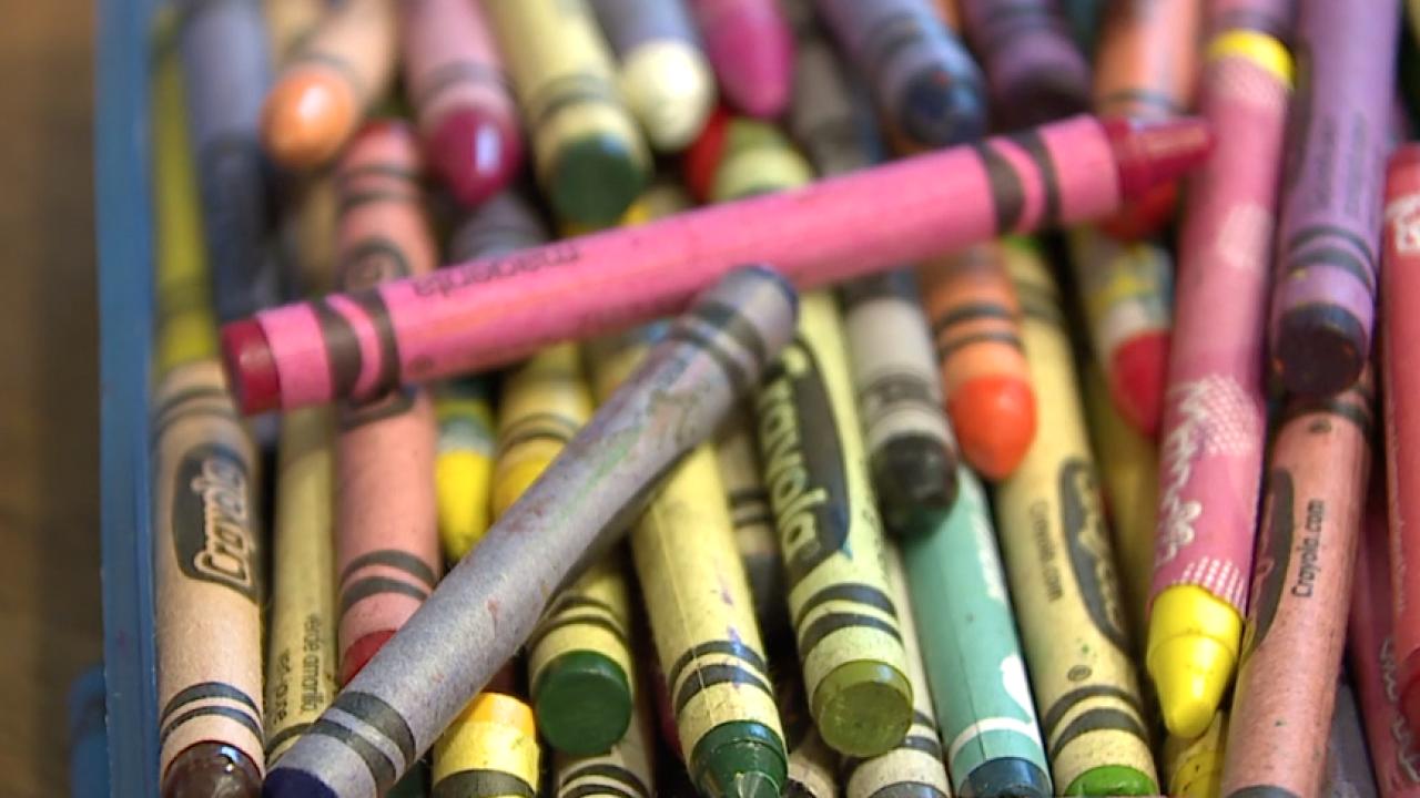 Crayons.