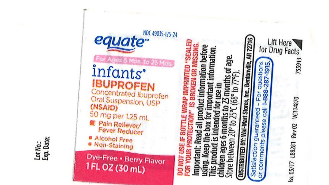 Infant ibuprofen recall expanded due to higher concentrations of the drug