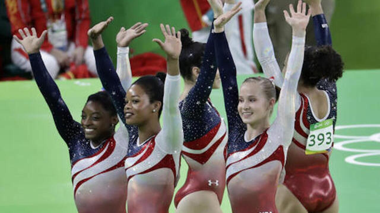 US women win second straight gold in all-around gymnastics