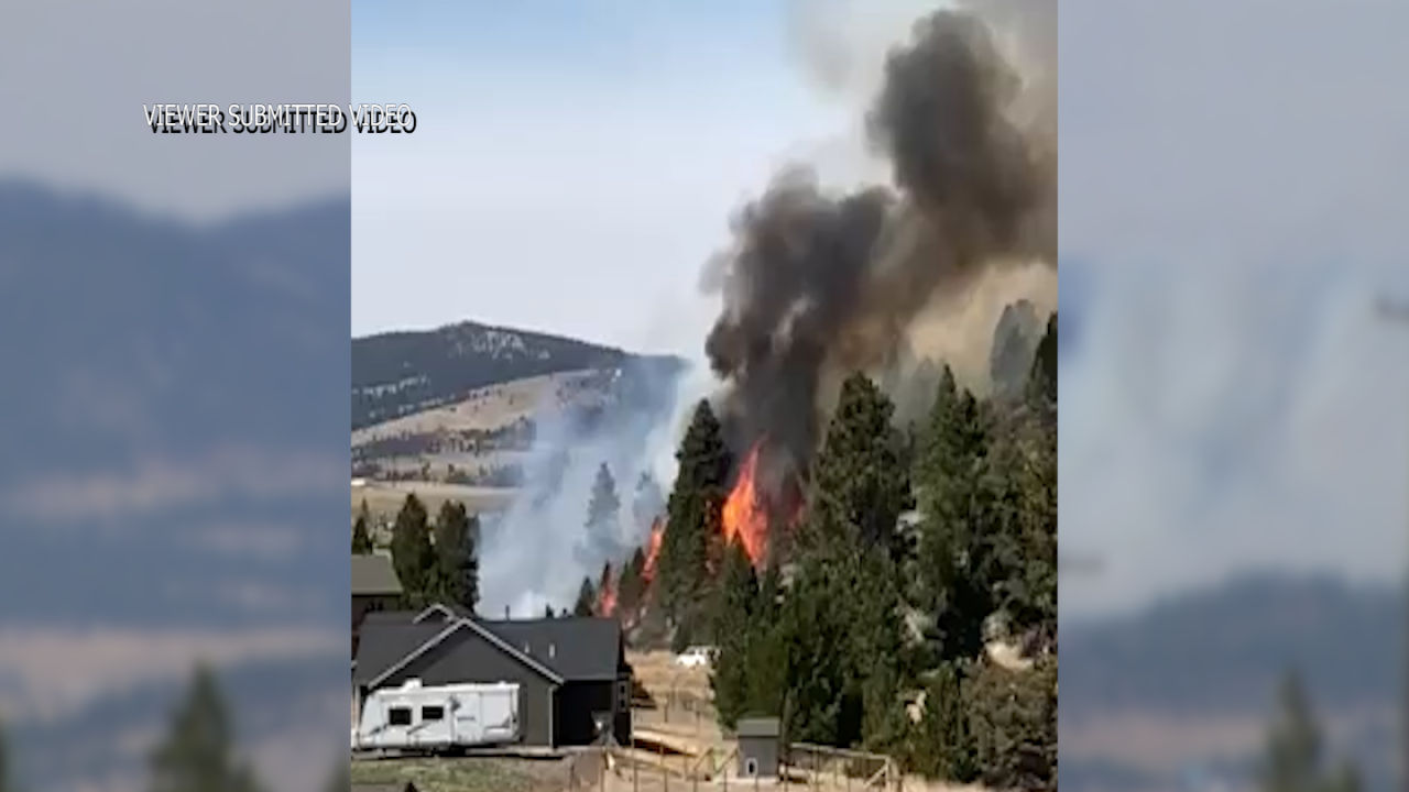 Wildfire west of Helena