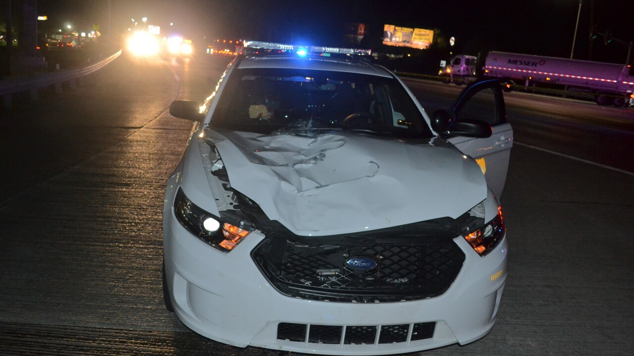 Attorney Steve Wagner obtained this photo of Officer Henderson's vehicle after the May 6, 2020 crash