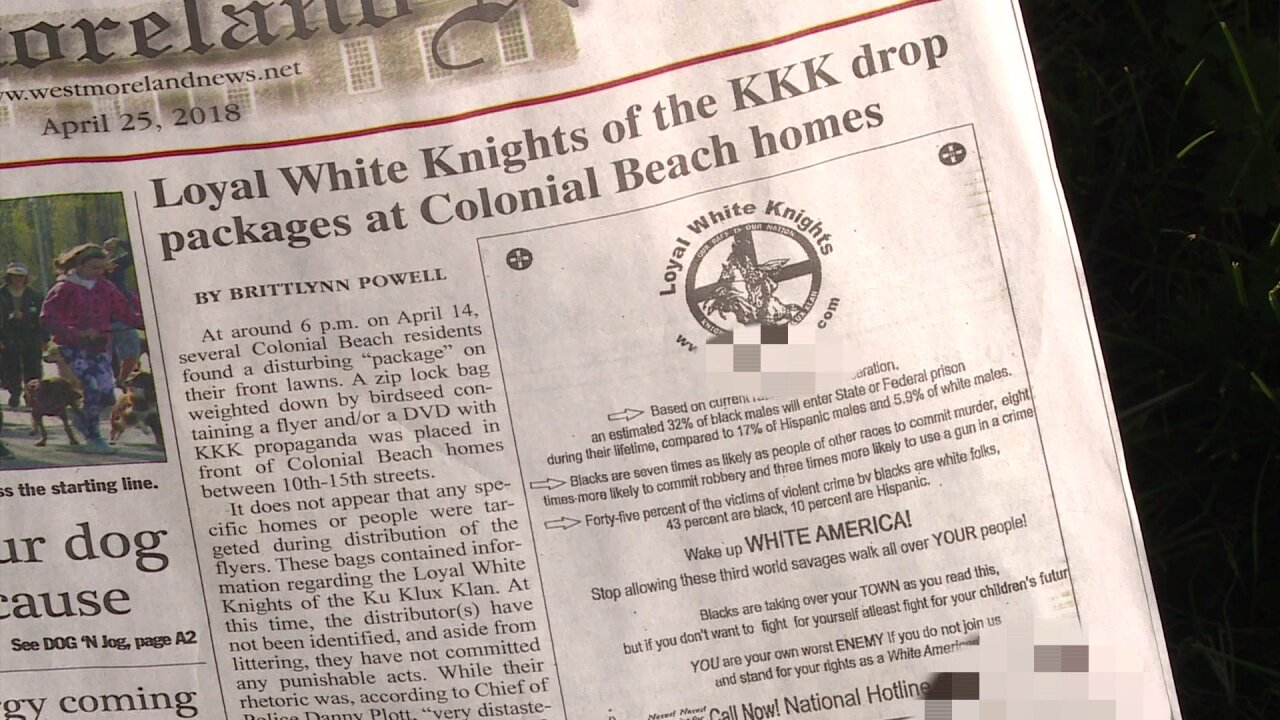 Community shocked after local paper publishes KKK recruitment flyer