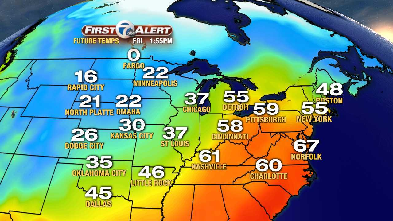 Late December weather warm-up on the way in metro Detroit, rain
