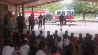 Vermilion Parish ELL campers visit fire station