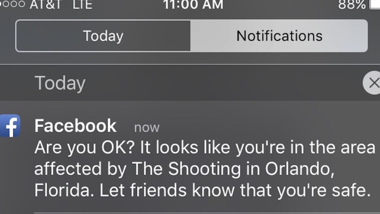 Facebook activates Safety Check for Orlando residents