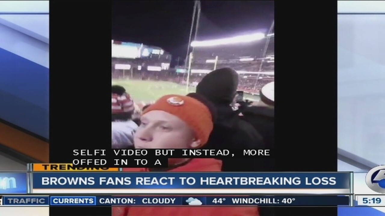 VIDEO | Great reactions to Browns loss to Ravens