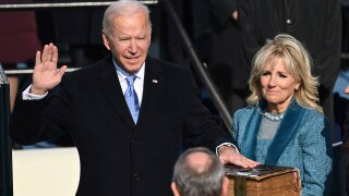 Joe Biden sworn in as president Jan. 20, 2021