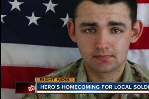 Here's homecoming for local soldier soon
