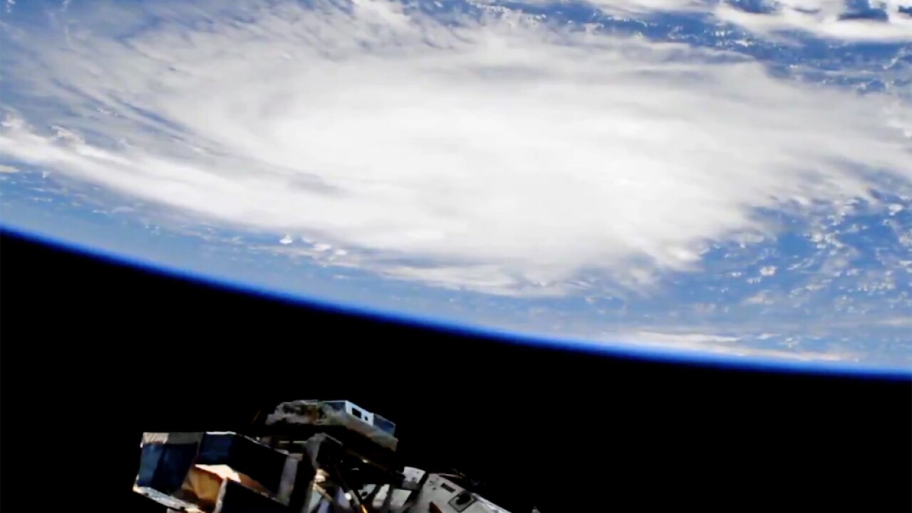 Hurricane Dorian from space on Aug. 29.
