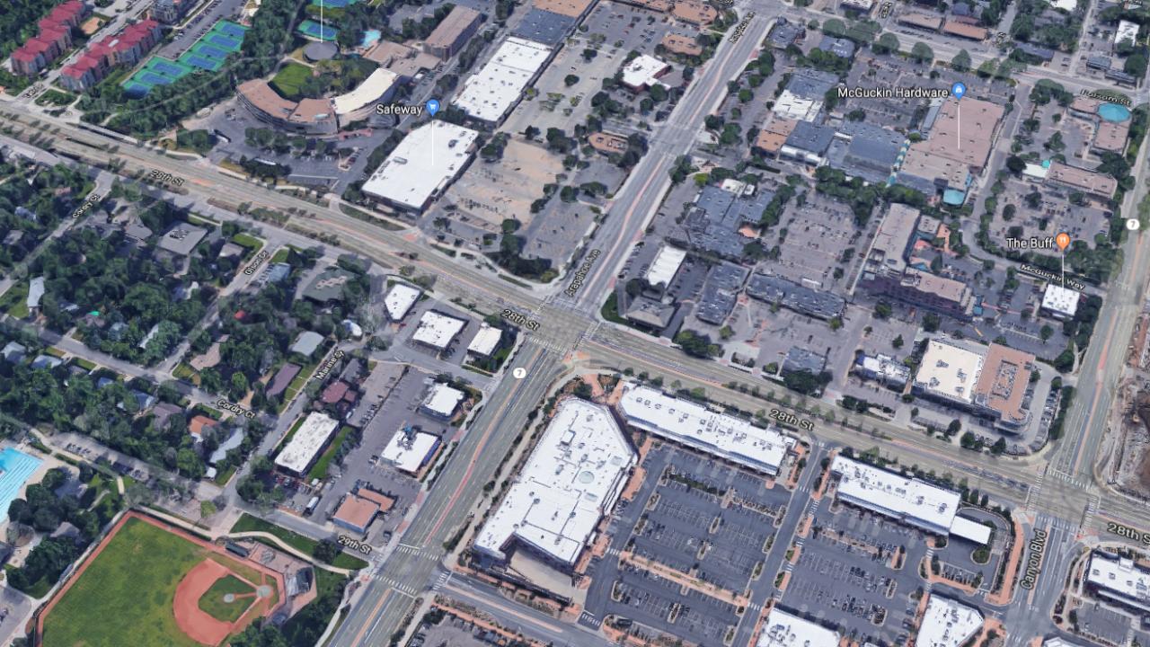 Arapahoe Avenue/28th Street in Boulder