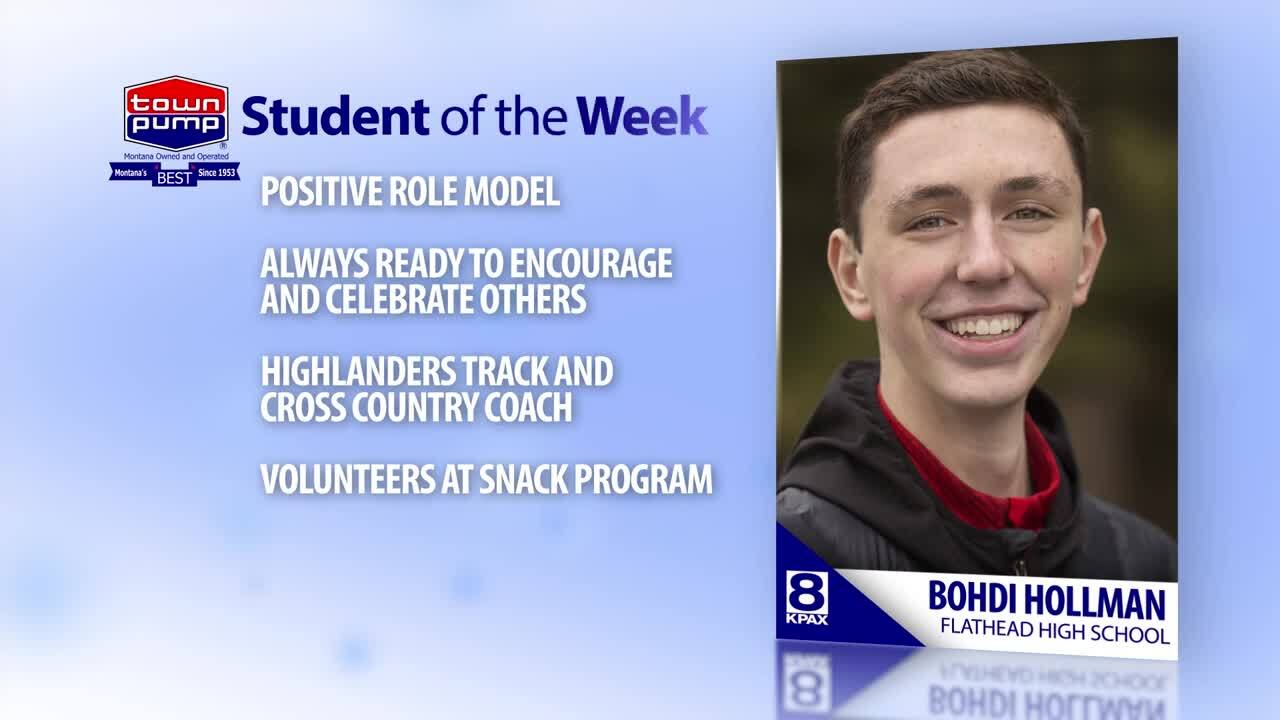 Student of the Week Bohdi Hollman