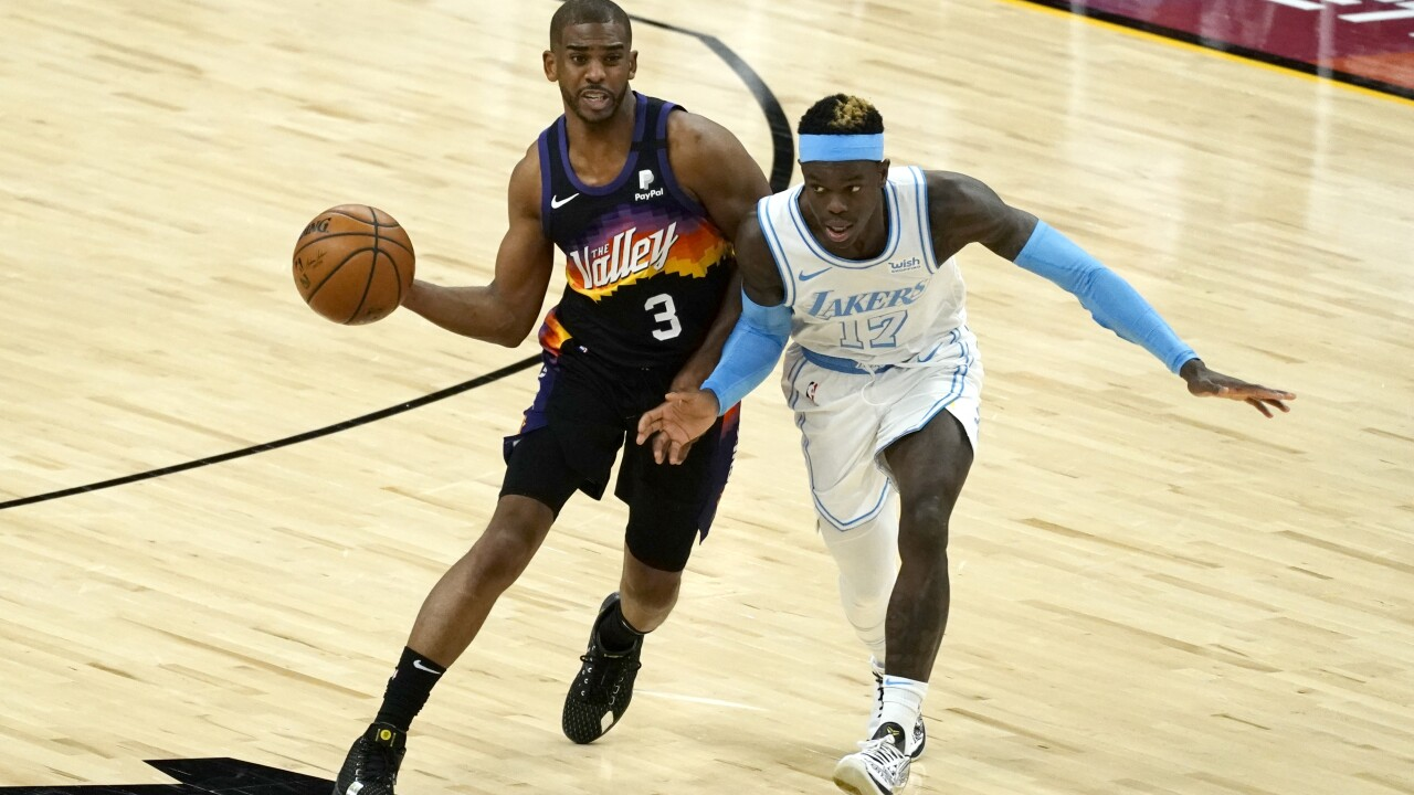 Chris Paul became the sixth player in NBA history to pass 10,000 career assists on Sunday night. Photo via AP.