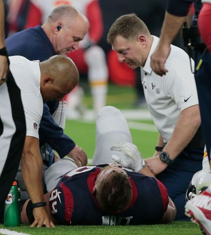 J.J. Watt Breaks Leg Versus Chiefs