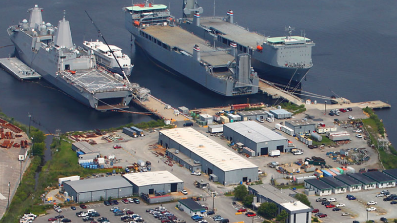 Man suffers serious injuries in accident at Norfolk shipyard