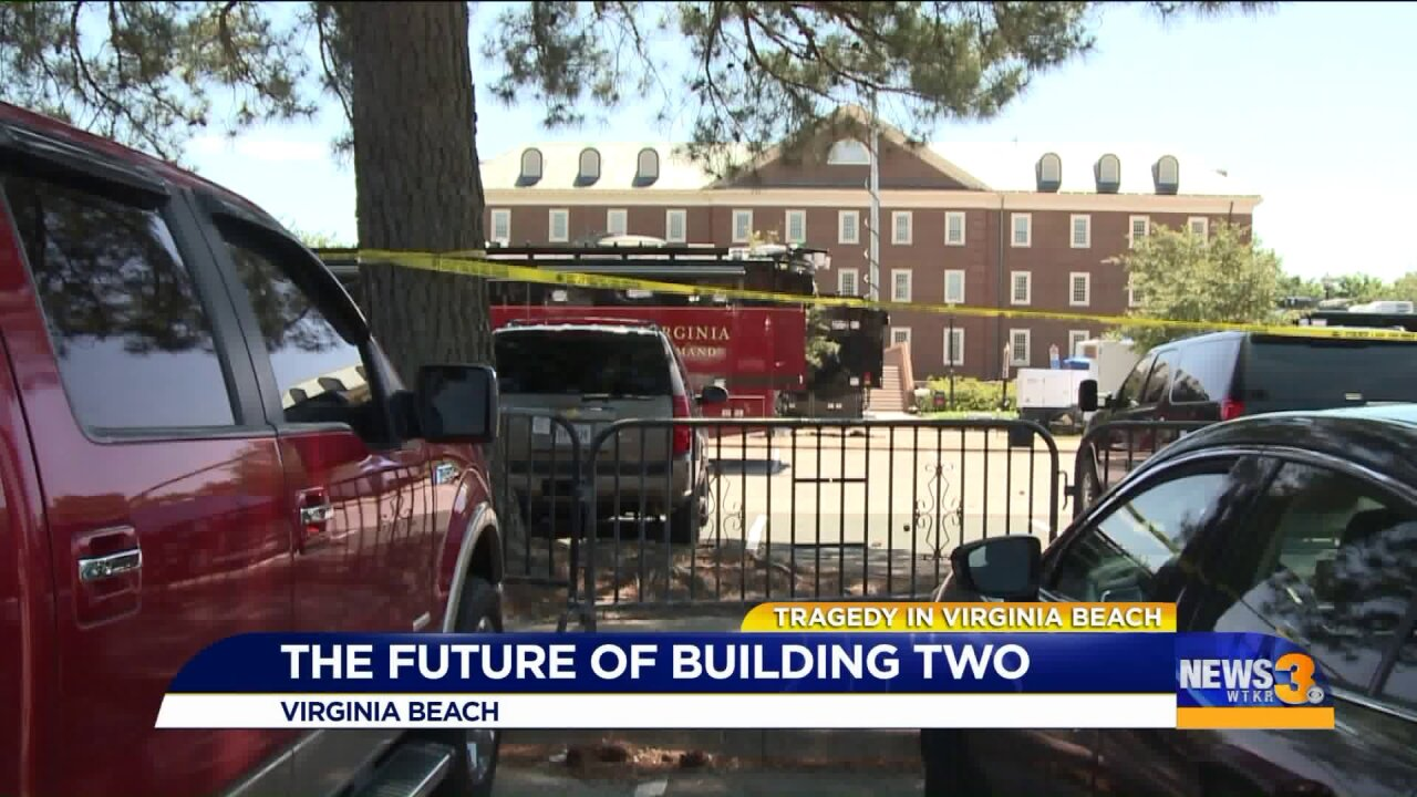 Following mass shooting, future of Building Two is unclear at Virginia Beach Municipal Center