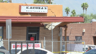 Garbage truck destroys entrance of local restaurant standing for 26 years