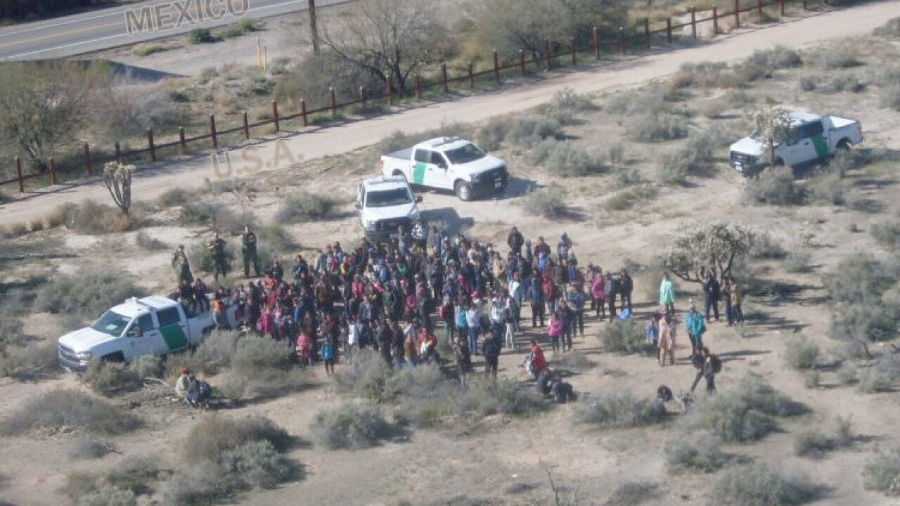 Migrants apprehended near Lukeville