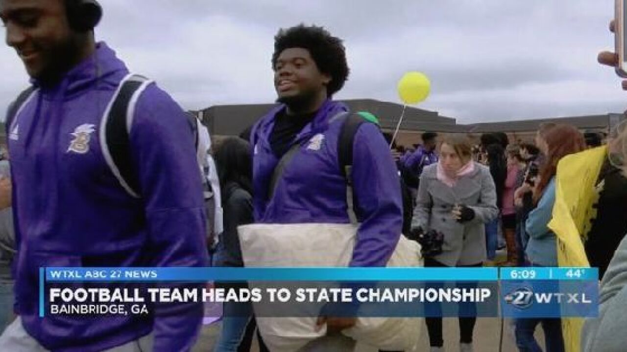 Bainbridge high school football team heads to Atlanta for state championship game