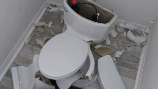 Lightning strikes causes toilet to explode 'like a missile' in Florida home