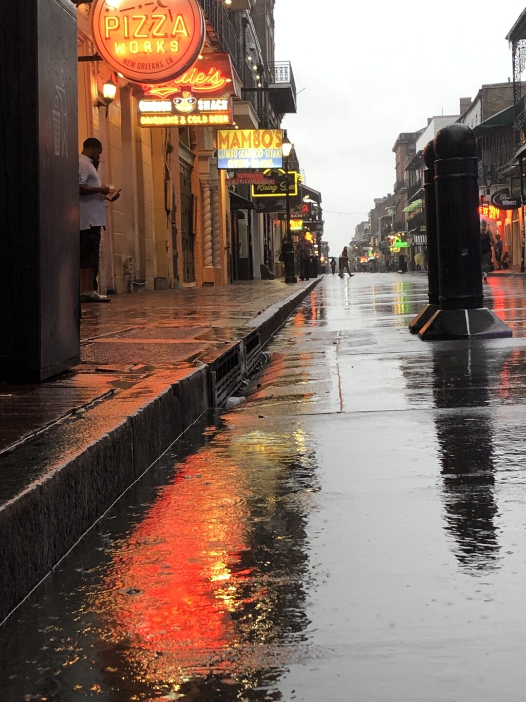 Heavy rain has fallen in New Orleans