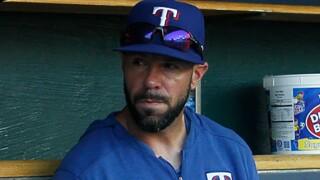 Jayce TIngler Texas Rangers bench